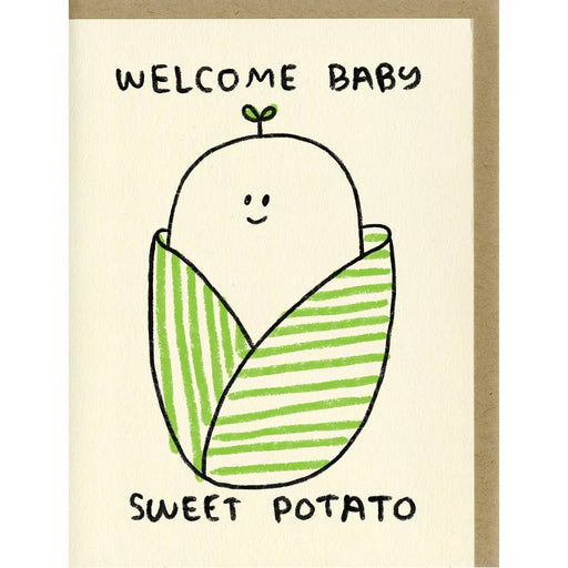 Sweet Potato Baby Card