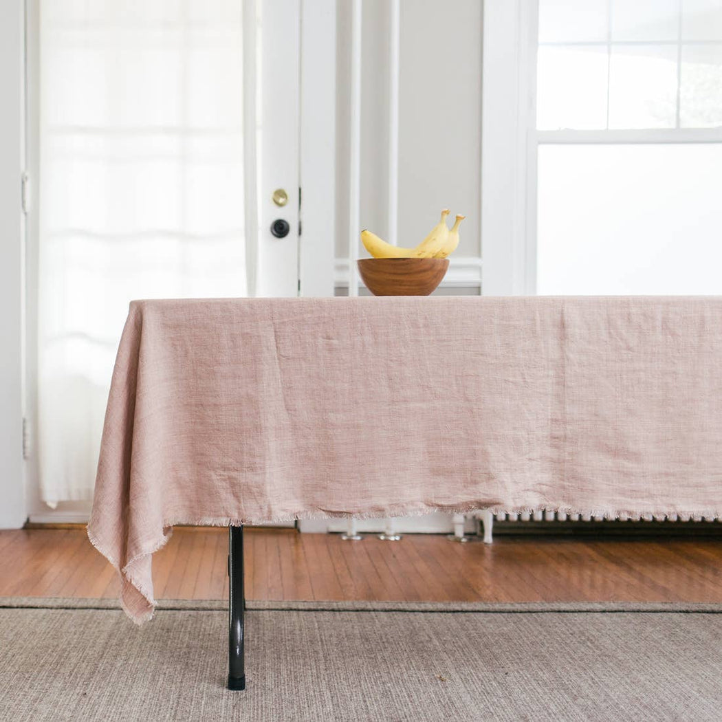 Stonewashed Linen Table Cloth