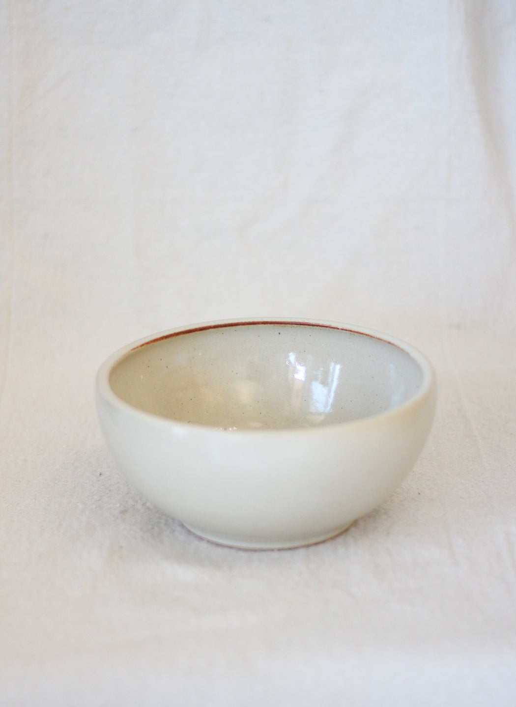Breakfast Bowl - Speckled Egg Shell