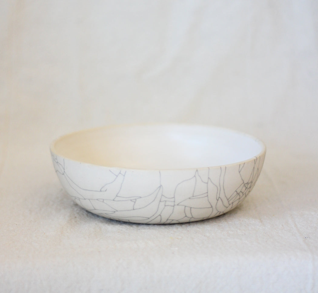 Dinner Bowl - Crackle