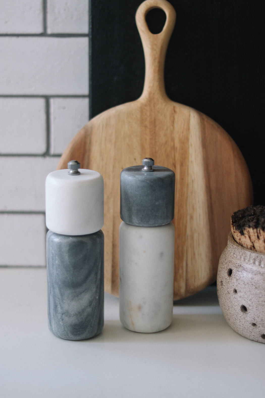 Marble Salt and Pepper Mill