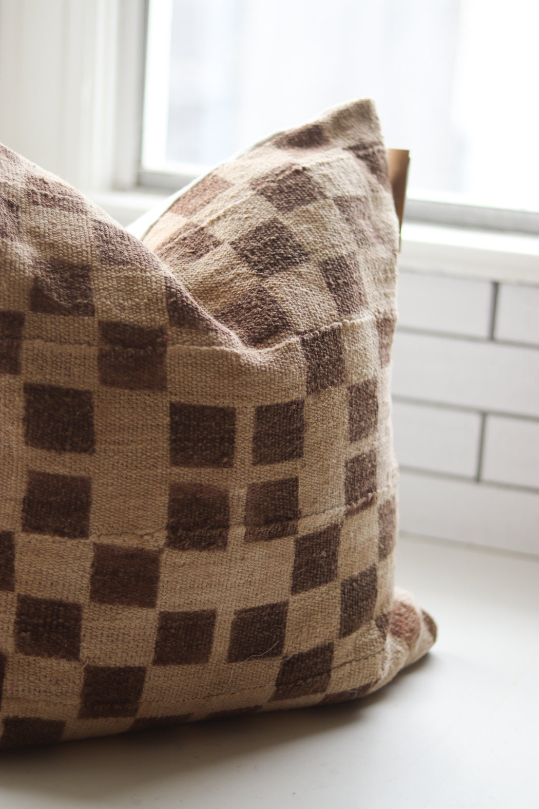 Checkerboard Mudcloth Pillow