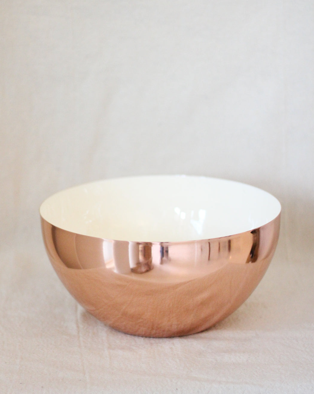 Louise Copper Bowl - Large/White