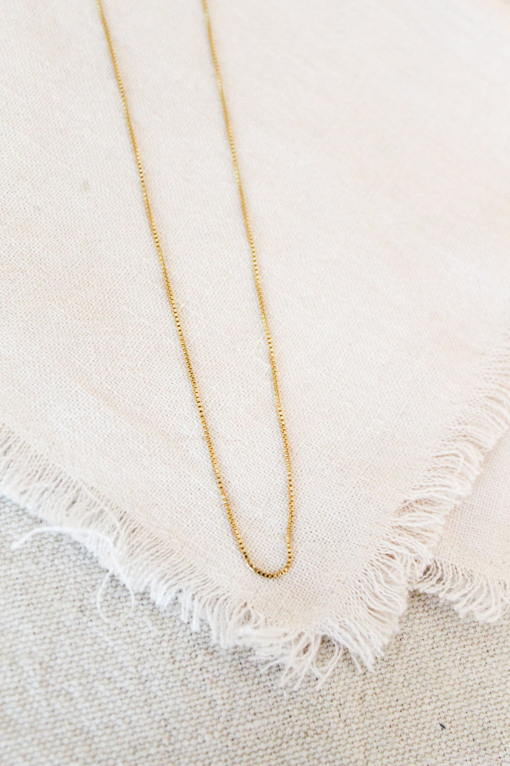 Box Layering Chain - Gold