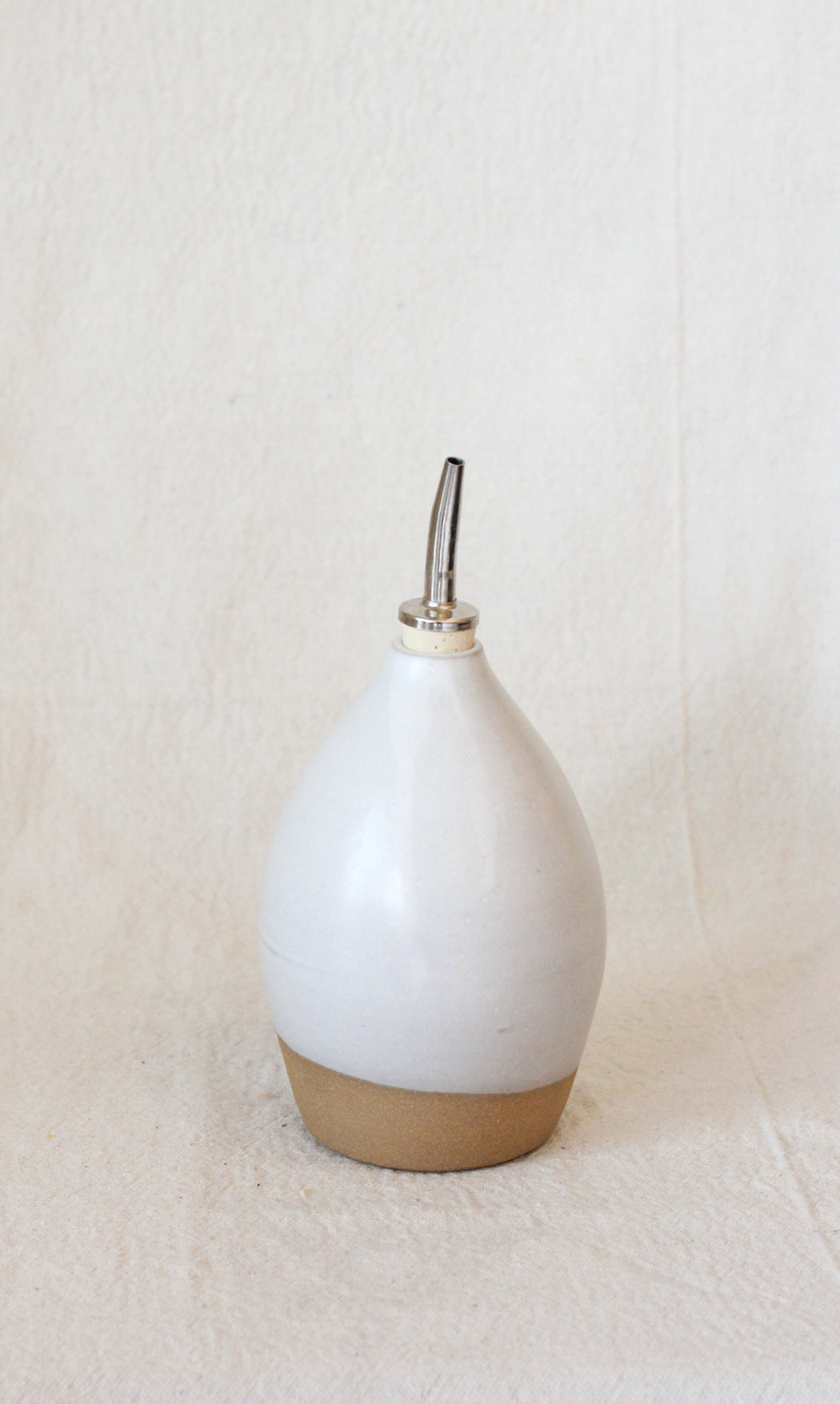14oz Ceramic Oil Bottle - Matte White