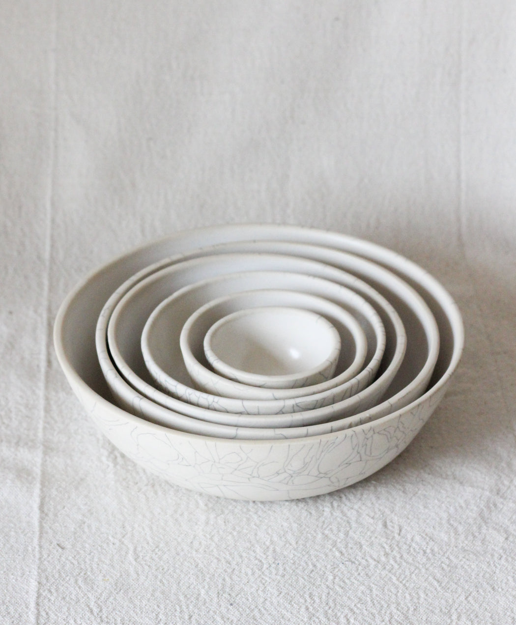 Full Set Nesting Bowls - Crackle