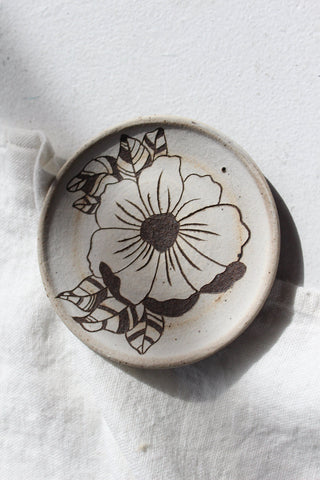 Hand Carved Ceramic Dish