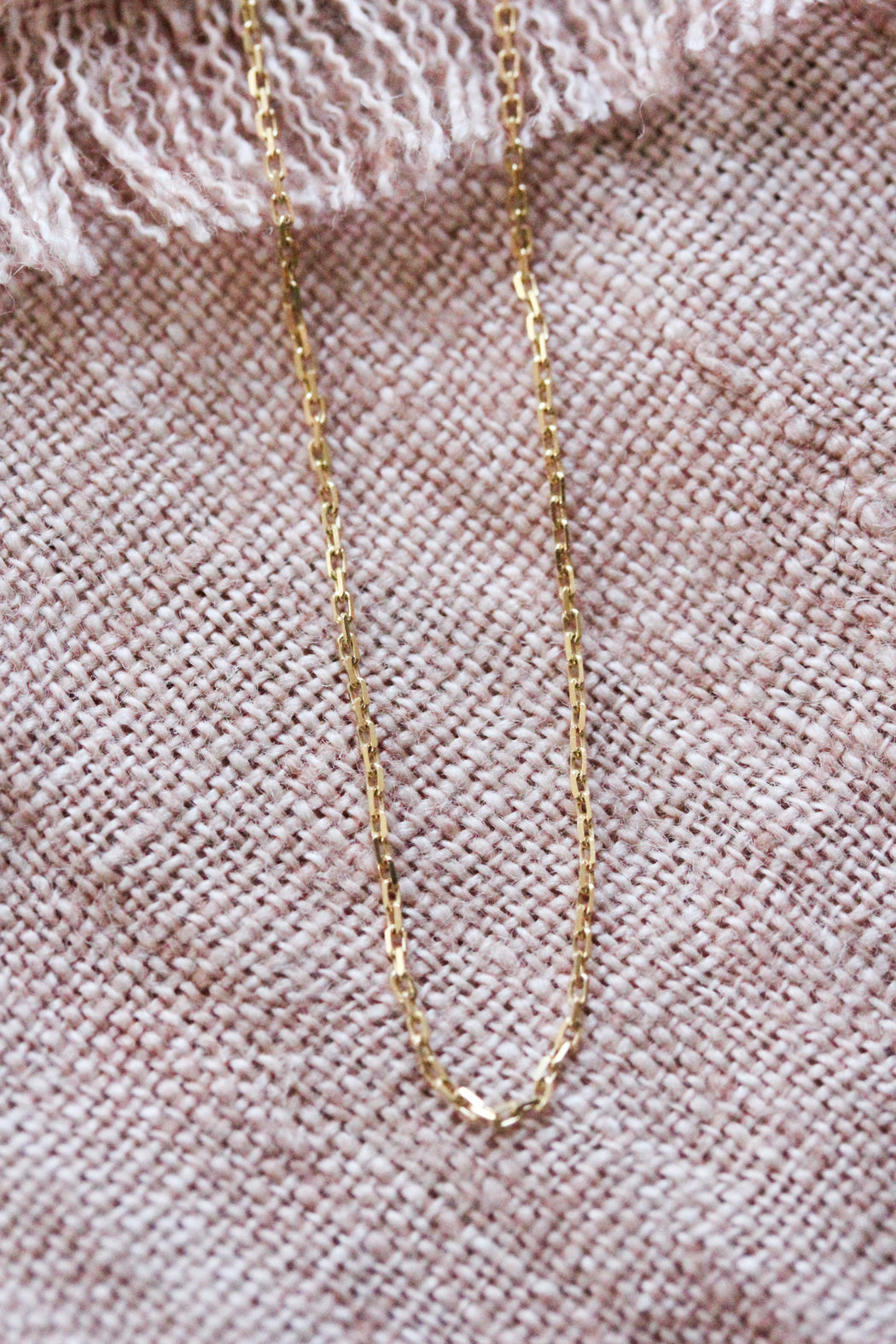 Thin Cable Chain - Gold