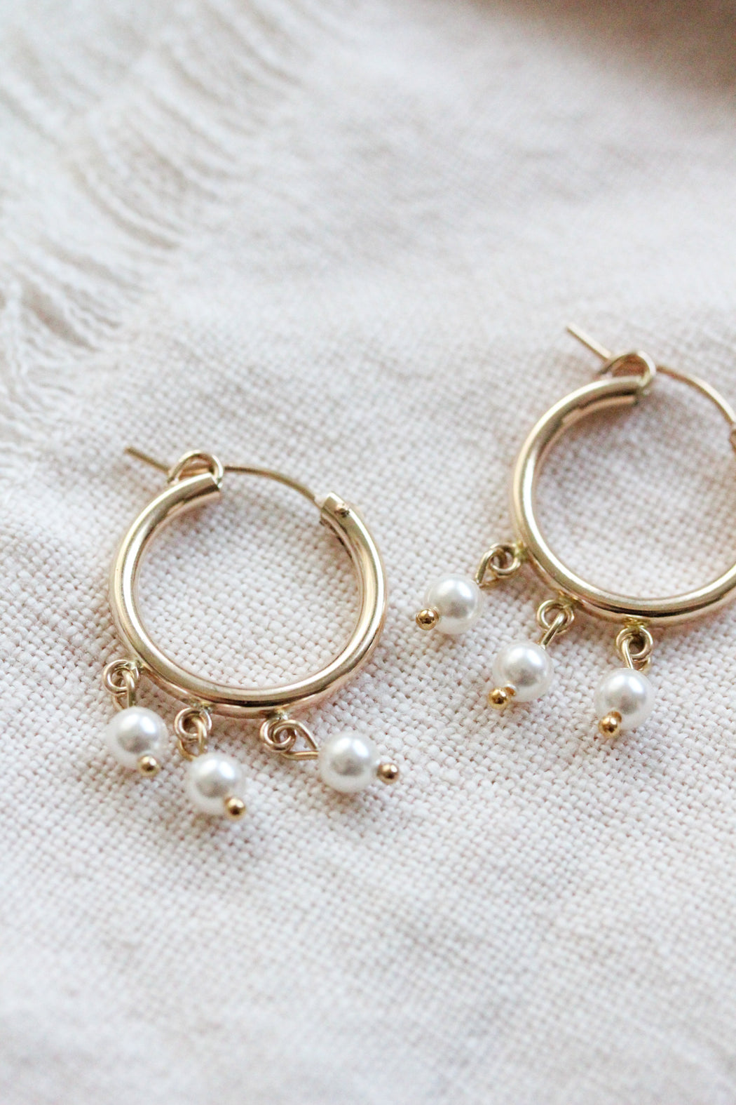 Newport Hoop Earrings w/Dangling Beads