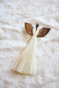 Sisal Angel Holiday Ornament