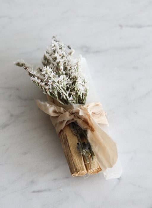 Palo Santo + White Selenite Bundle
