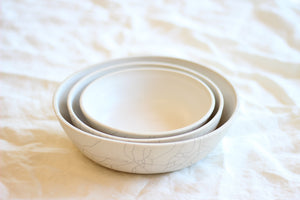 Nesting Serving Bowls - Crackle