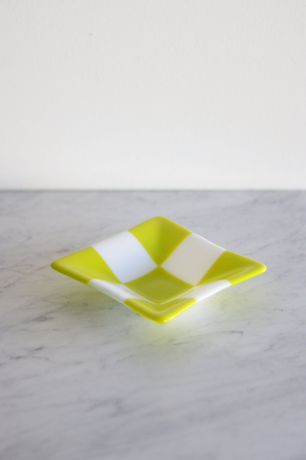 Glass Checker Dish