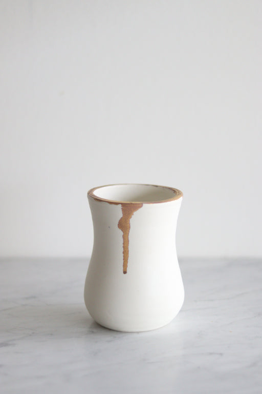 Gold Dipped Vase