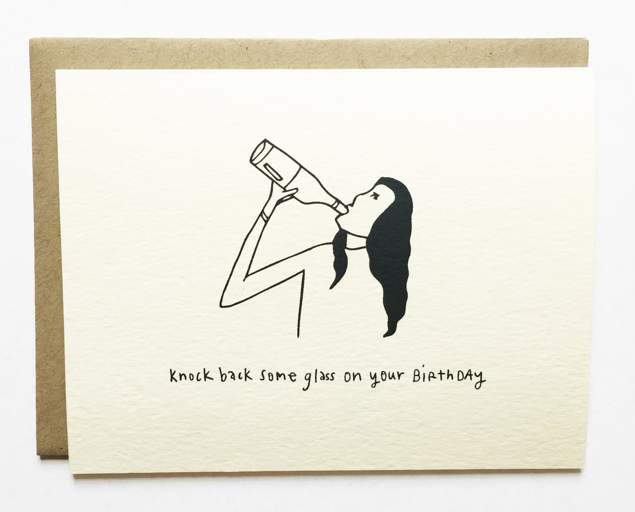 Knock Back Glasses Card