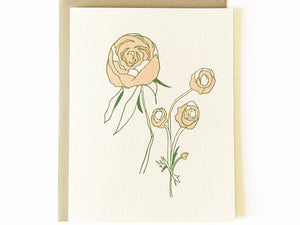 Wildflowers Peonies Card