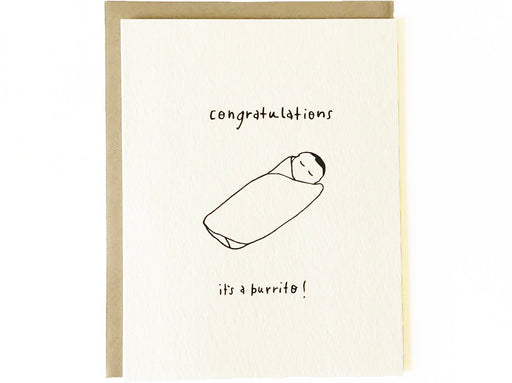 Congratulations It's A Burrito Card