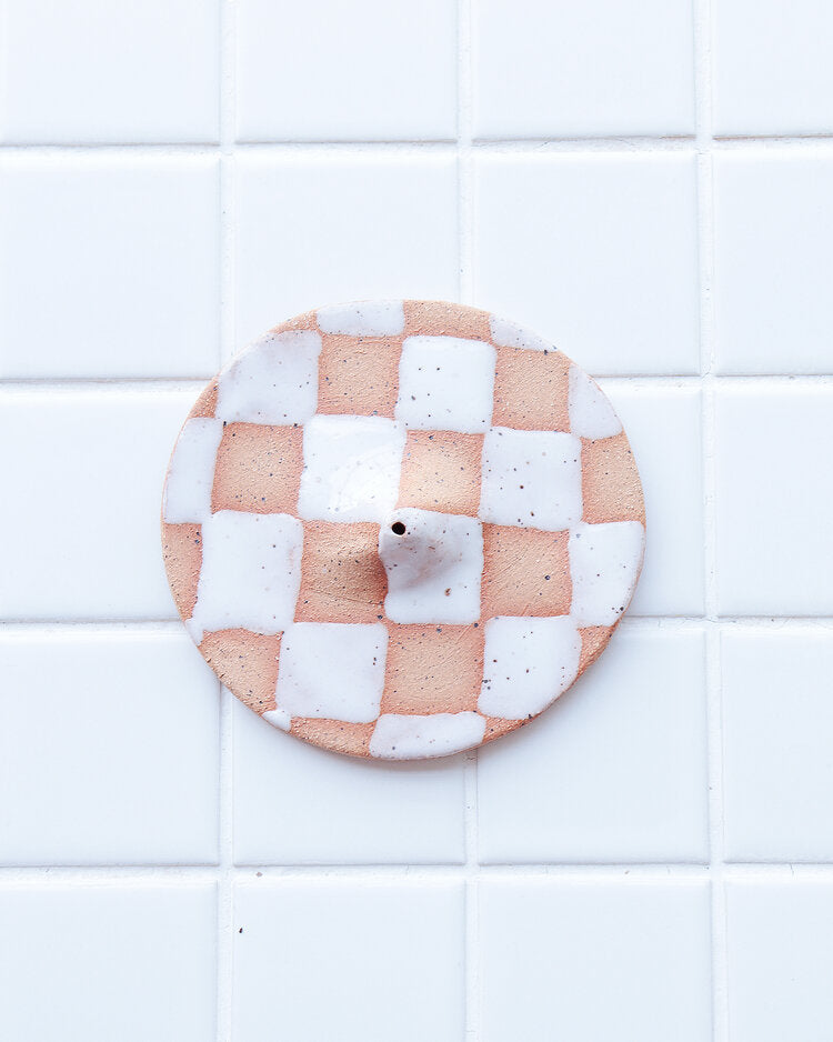 Checkerboard Incense Holder