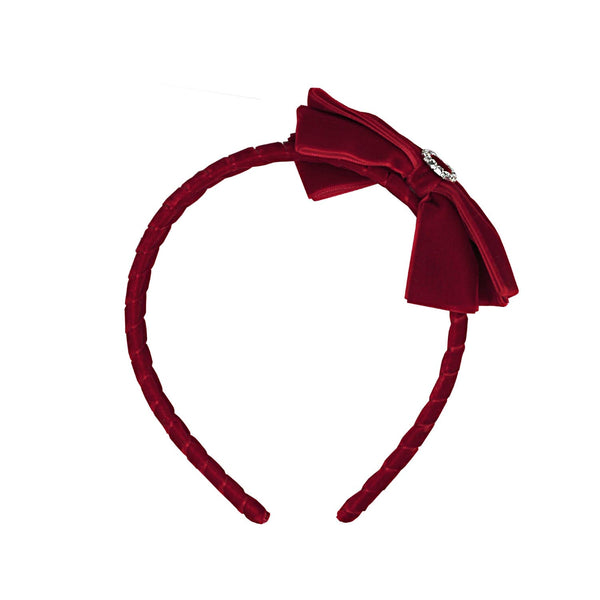 VELVET AND DIMANTE HEADBAND