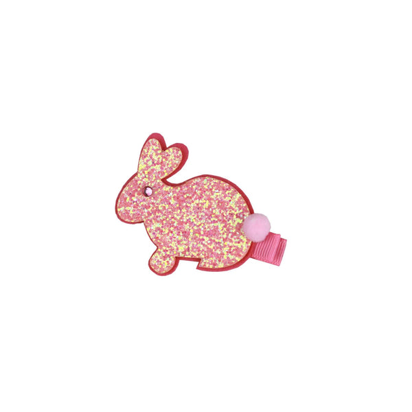 PINK SPARKLY RABBIT CLIP
