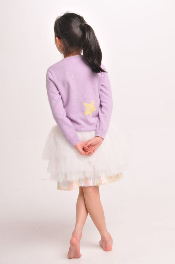 CASHMERE SHOOTING STAR CARDIGAN