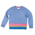CASHMERE DENIM MULTI STRIPE JUMPER