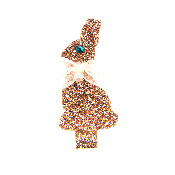 COPPER SPARKLY RABBIT CLIP