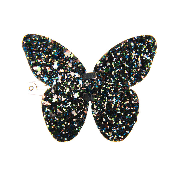 GLITTER LARGE BUTTERFLY CLIP