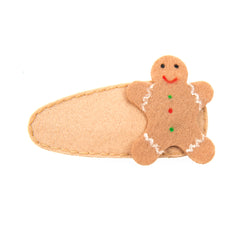 GINGER BREAD MAN HAIR CLIP