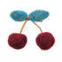 WOOLY LARGE CHERRY HAIR CLIP