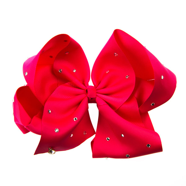 GIANT GROSGRAIN BOW WITH CRYSTAL