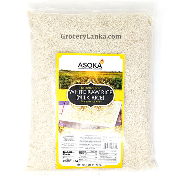 Asoka White Raw Rice ( Milk Rice) 10lb