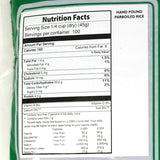 CIC Hand Pound Parboiled Rice Nutrition