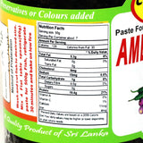 Ceylon Choice Ambulthiyal Paste Nutrition facts