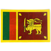 Sri Lankan Flag Double Sided Car Sticker 5 x 3.5 Inches
