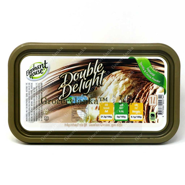 Elephant House Double Delight Vanilla & Chocolate Ice Cream 1L