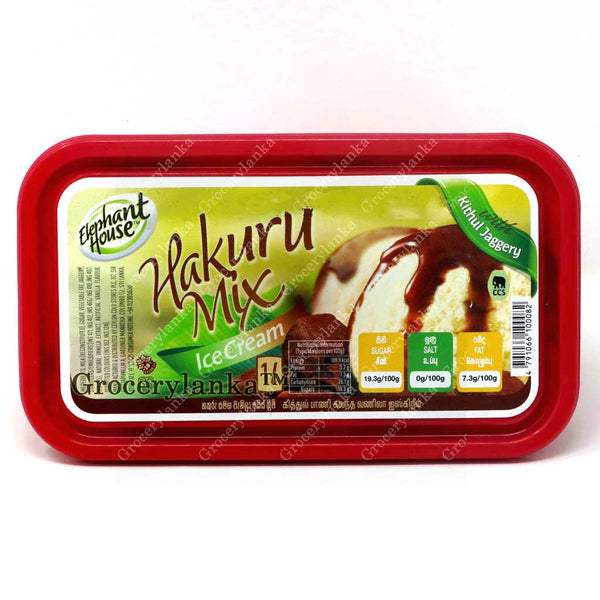 Elephant House Hakuru Mix Ice Cream 1L  ( Ice Cream with Kithul Jaggery)