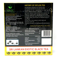 Exotic Black Tea 100 Bags | Pure Ceylon Tea | Thoolawie Plantation Information