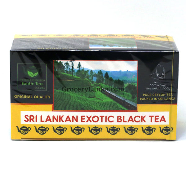 Exotic Black Tea 50 Bags | Pure Ceylon Tea | Thoolawie Plantation