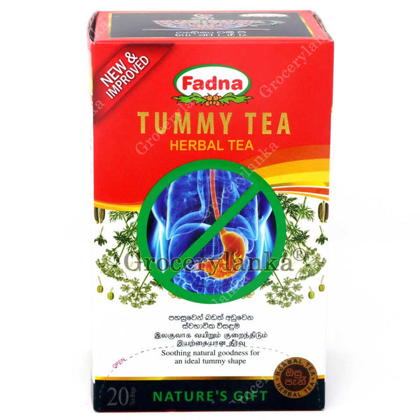 Fadna Tummy Tea - Tummy tea consists of a traditionally accepted formula designed to reduce bloated stomach and regain proper abdominal shape. This tea is ideal to cater proper food digestion, while reducing fat absorption and abdominal discomfort.