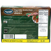 Kandy Foods Vegetable Stuffed Roti - Frozen (In-Store or Curbside Pickup Only)