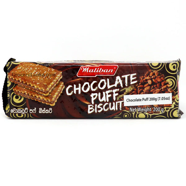 Maliban Chocolate Puff Biscuit 200g