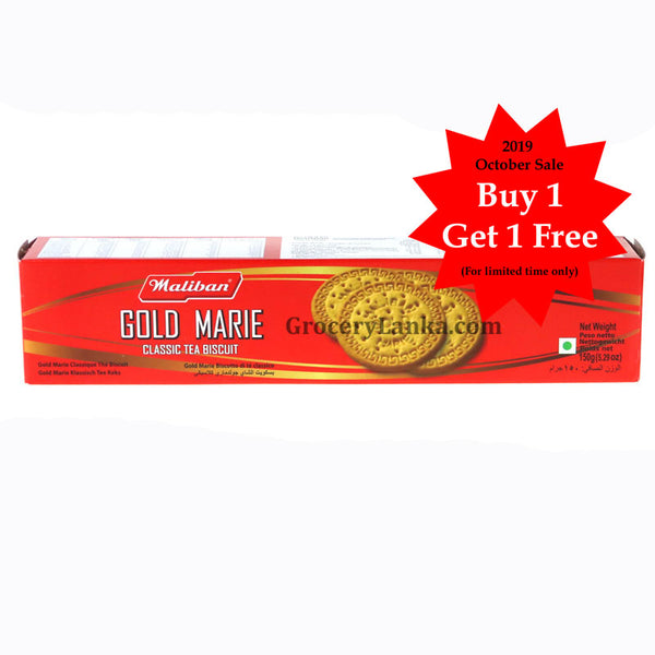 Maliban Gold Marie 150g - Buy 1 Get 1 Free