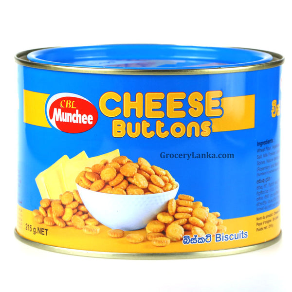 Munchee Cheese Buttons Tin 215g