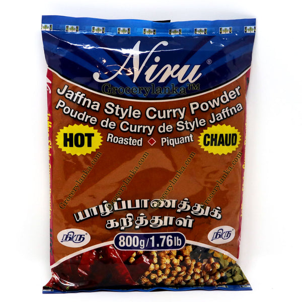 Niru Jaffna Hot Curry Powder (Roasted) 800g