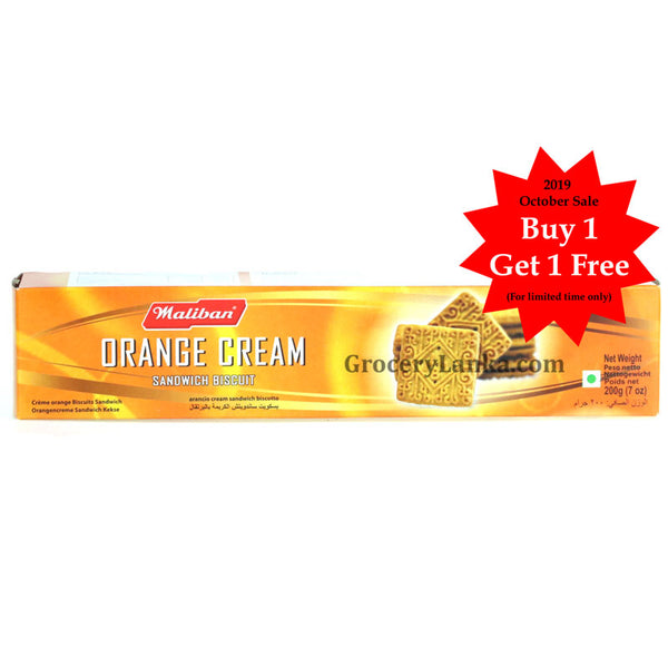 Maliban Orange Cream Biscuit 200g - Buy 1 Get 1 Free