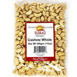 Suraj Whole Raw Cashew 400g