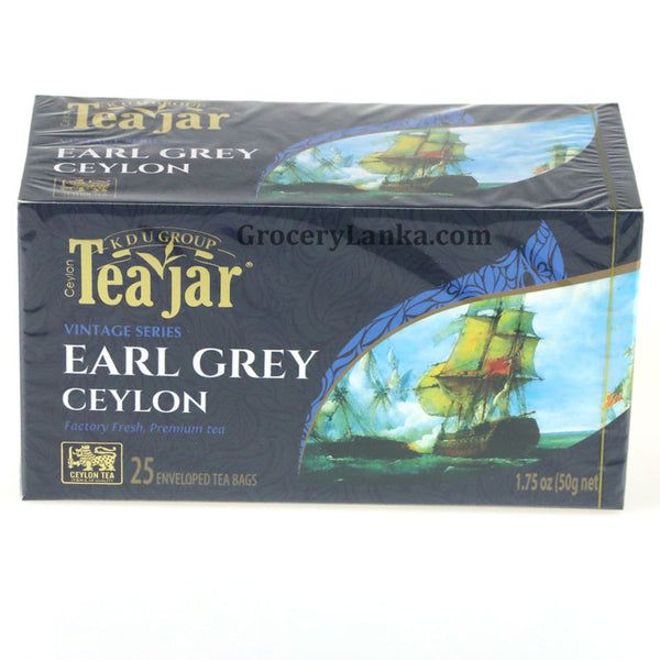 Teajar Earl Grey Ceylon Tea ( 25 Enveloped Tea Bags)