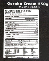 Wijaya Goraka Cream Nutrition Facts