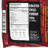 Wijaya Roasted Chilli Powder 500g Nutrition Facts